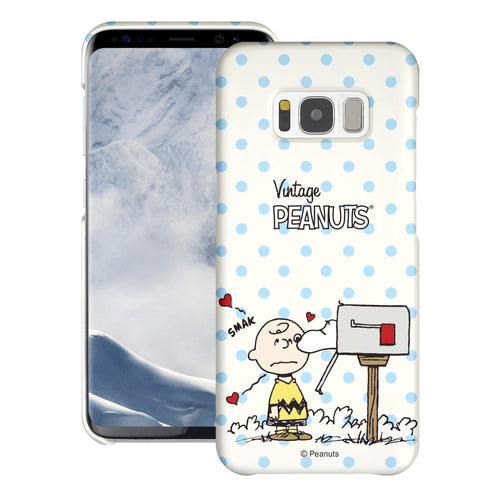 Galaxy S8 Plus Case [Slim Fit] PEANUTS Thin Hard Matte Surface Excellent Grip Cover - Smack Charlie Brown Mailbox