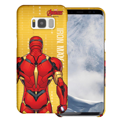 Galaxy S6 Edge Case Marvel Avengers [Slim Fit] Thin Hard Matte Surface Excellent Grip Cover - Back Iron Man