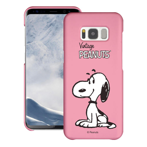 Galaxy S8 Case (5.8inch) [Slim Fit] PEANUTS Thin Hard Matte Surface Excellent Grip Cover - Simple Snoopy