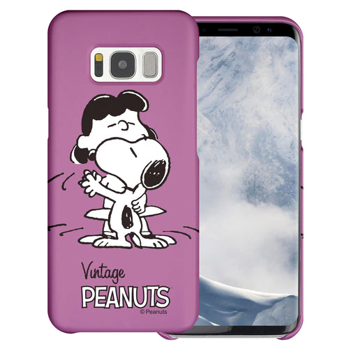 Galaxy S8 Case (5.8inch) [Slim Fit] PEANUTS Thin Hard Matte Surface Excellent Grip Cover - Cute Snoopy Lucy