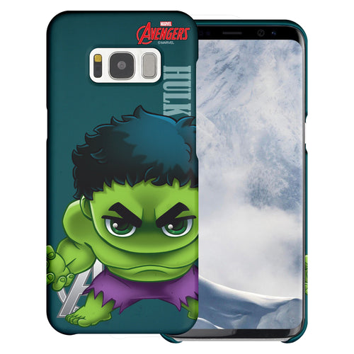 Galaxy S7 Edge Case Marvel Avengers [Slim Fit] Thin Hard Matte Surface Excellent Grip Cover - Mini Hulk