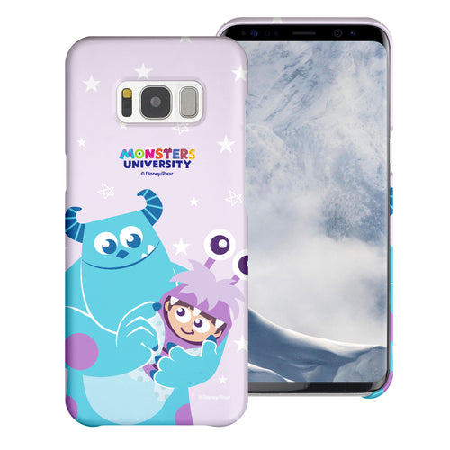 Galaxy S8 Plus Case [Slim Fit] Monsters University inc Thin Hard Matte Surface Excellent Grip Cover - Full Boo