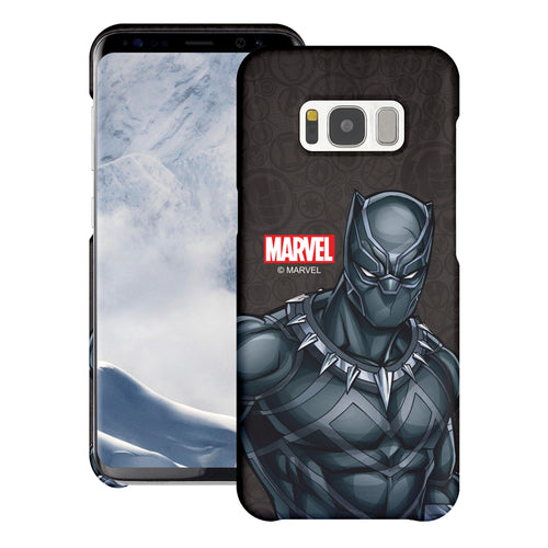 Galaxy S6 Edge Case Marvel Avengers [Slim Fit] Thin Hard Matte Surface Excellent Grip Cover - Illustration Black Panther