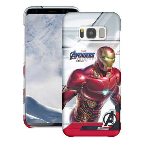 Galaxy S6 Case (5.1inch) Marvel Avengers [Slim Fit] Thin Hard Matte Surface Excellent Grip Cover - End Game Iron Man