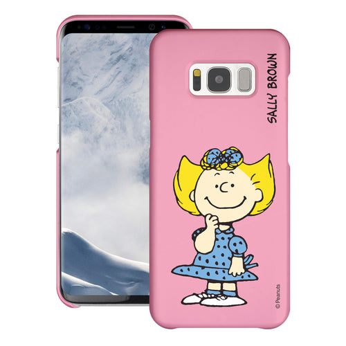 Galaxy S8 Case (5.8inch) [Slim Fit] PEANUTS Thin Hard Matte Surface Excellent Grip Cover - Smile Sally