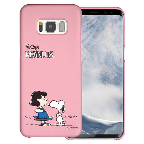 Galaxy S8 Case (5.8inch) [Slim Fit] PEANUTS Thin Hard Matte Surface Excellent Grip Cover - Small Snoopy Lucy