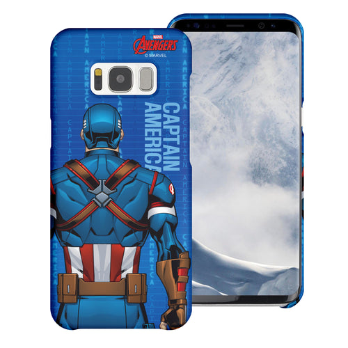 Galaxy S6 Case (5.1inch) Marvel Avengers [Slim Fit] Thin Hard Matte Surface Excellent Grip Cover - Back Captain America