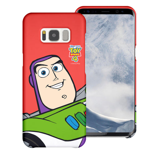 Galaxy S8 Plus Case [Slim Fit] Toy Story Thin Hard Matte Surface Excellent Grip Cover - Wide Buzz