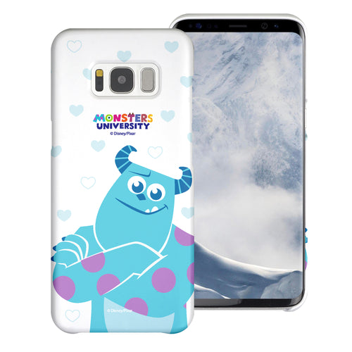 Galaxy S8 Plus Case [Slim Fit] Monsters University inc Thin Hard Matte Surface Excellent Grip Cover - Full Sulley