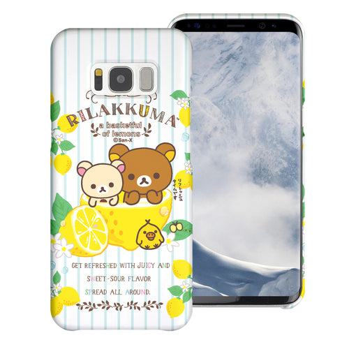 Galaxy S8 Plus Case [Slim Fit] Rilakkuma Thin Hard Matte Surface Excellent Grip Cover - Rilakkuma Lemon