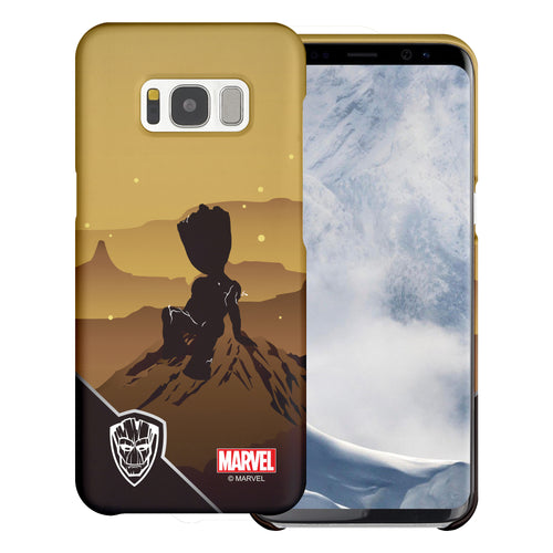 Galaxy S7 Edge Case Marvel Avengers [Slim Fit] Thin Hard Matte Surface Excellent Grip Cover - Shadow Groot