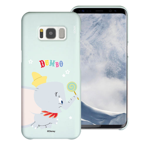 Galaxy S8 Case (5.8inch) [Slim Fit] Disney Dumbo Thin Hard Matte Surface Excellent Grip Cover - Dumbo Candy