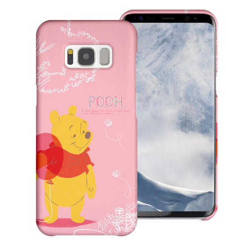 Galaxy S7 Edge Case [Slim Fit] Disney Pooh Thin Hard Matte Surface Excellent Grip Cover - Balloon Pooh Ground