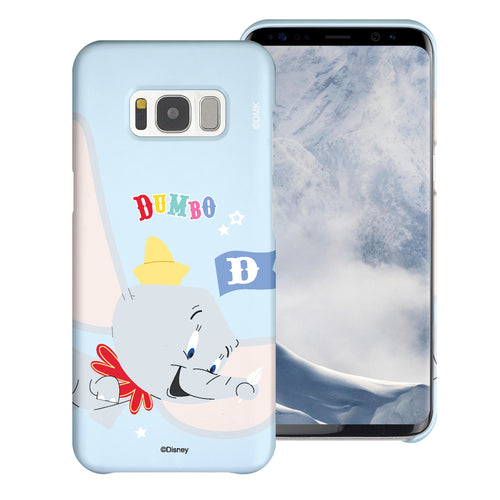 Galaxy S8 Plus Case [Slim Fit] Disney Dumbo Thin Hard Matte Surface Excellent Grip Cover - Dumbo Fly