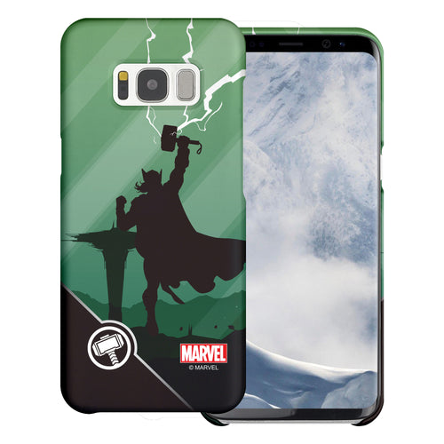 Galaxy S6 Case (5.1inch) Marvel Avengers [Slim Fit] Thin Hard Matte Surface Excellent Grip Cover - Shadow Thor