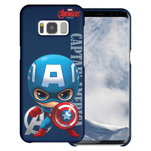 Galaxy S6 Case (5.1inch) Marvel Avengers [Slim Fit] Thin Hard Matte Surface Excellent Grip Cover - Mini Captain America
