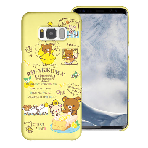 Galaxy S7 Edge Case [Slim Fit] Rilakkuma Thin Hard Matte Surface Excellent Grip Cover - Rilakkuma Cooking
