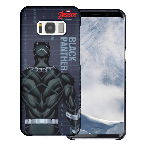 Galaxy S6 Case (5.1inch) Marvel Avengers [Slim Fit] Thin Hard Matte Surface Excellent Grip Cover - Back Black Panther