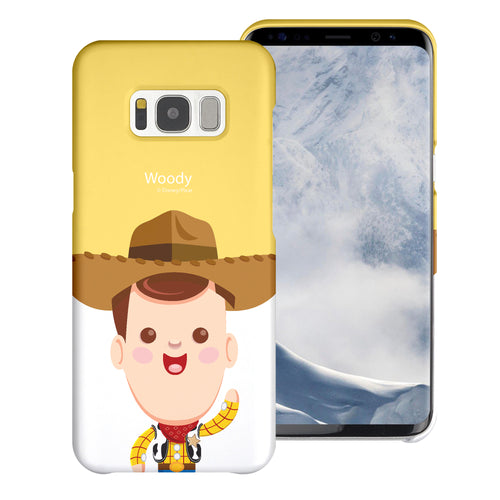 Galaxy S8 Plus Case [Slim Fit] Toy Story Thin Hard Matte Surface Excellent Grip Cover - Baby Woody