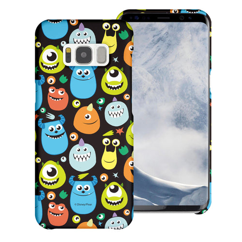 Galaxy S8 Plus Case [Slim Fit] Monsters University inc Thin Hard Matte Surface Excellent Grip Cover - Icon Monsters