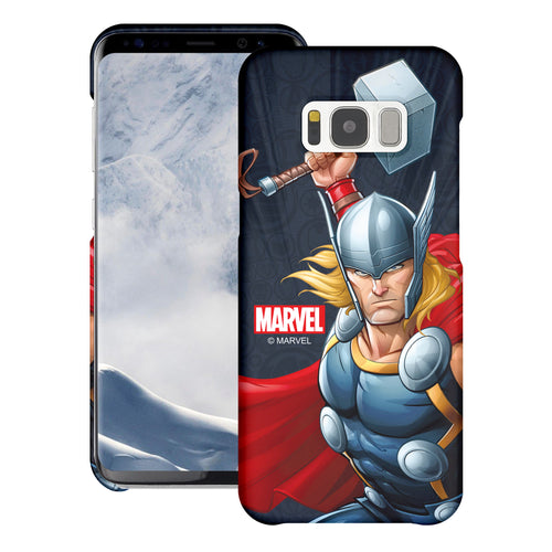 Galaxy S6 Case (5.1inch) Marvel Avengers [Slim Fit] Thin Hard Matte Surface Excellent Grip Cover - Illustration Thor