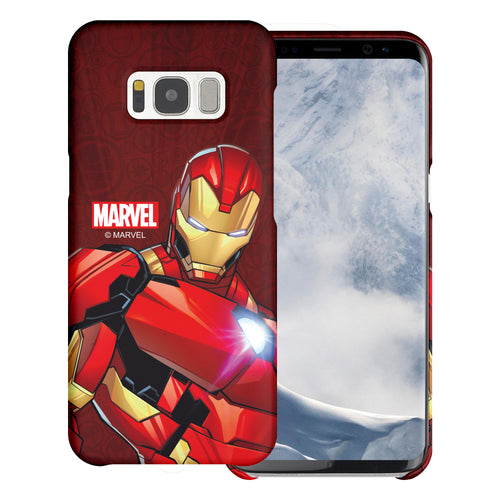 Galaxy S6 Edge Case Marvel Avengers [Slim Fit] Thin Hard Matte Surface Excellent Grip Cover - Illustration Iron Man