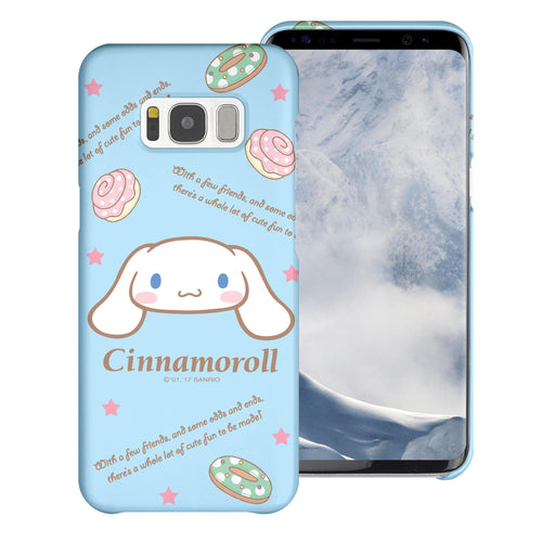 Galaxy S6 Edge Case [Slim Fit] Sanrio Thin Hard Matte Surface Excellent Grip Cover - Icon Cinnamoroll
