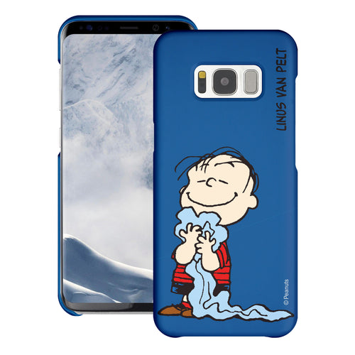 Galaxy S8 Plus Case [Slim Fit] PEANUTS Thin Hard Matte Surface Excellent Grip Cover - Smile Linus