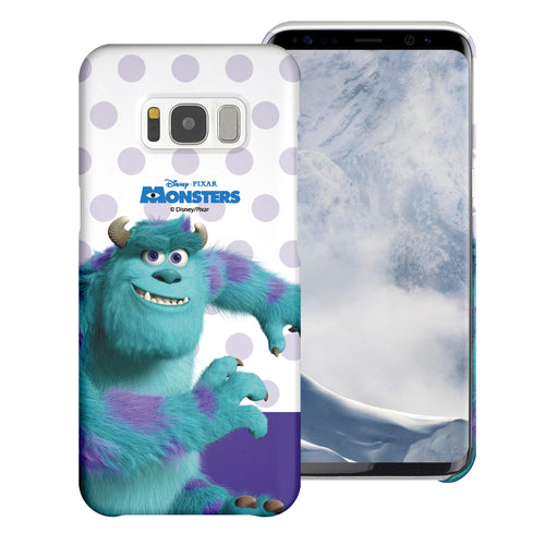 Galaxy S8 Plus Case [Slim Fit] Monsters University inc Thin Hard Matte Surface Excellent Grip Cover - Movie Sulley