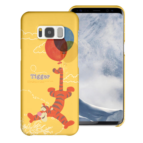 Galaxy Note5 Case [Slim Fit] Disney Pooh Thin Hard Matte Surface Excellent Grip Cover - Balloon Tigger
