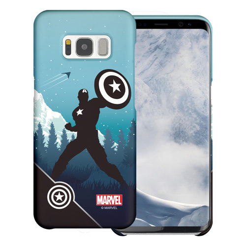 Galaxy S6 Case (5.1inch) Marvel Avengers [Slim Fit] Thin Hard Matte Surface Excellent Grip Cover - Shadow Captain America