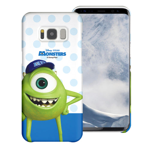 Galaxy S8 Plus Case [Slim Fit] Monsters University inc Thin Hard Matte Surface Excellent Grip Cover - Movie Mike