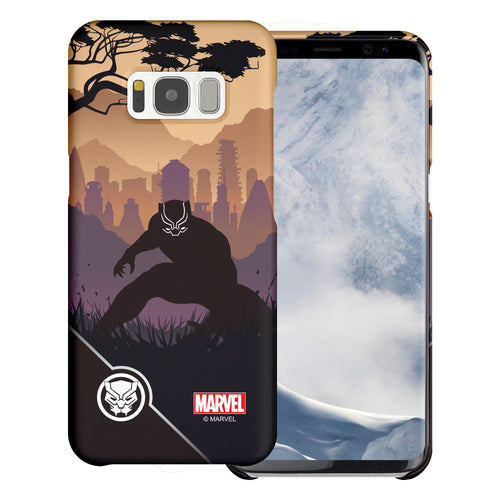 Galaxy S7 Edge Case Marvel Avengers [Slim Fit] Thin Hard Matte Surface Excellent Grip Cover - Shadow Black Panther