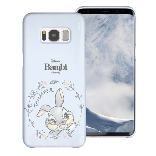 Galaxy S8 Case (5.8inch) [Slim Fit] Disney Bambi Thin Hard Matte Surface Excellent Grip Cover - Face Thumper