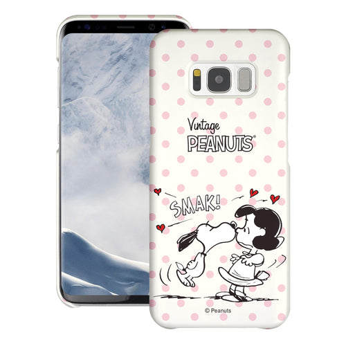 Galaxy S8 Plus Case [Slim Fit] PEANUTS Thin Hard Matte Surface Excellent Grip Cover - Smack Snoopy Lucy