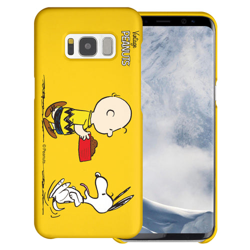 Galaxy S8 Case (5.8inch) [Slim Fit] PEANUTS Thin Hard Matte Surface Excellent Grip Cover - Cute Snoopy Food