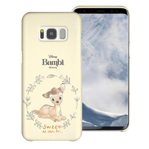 Galaxy S8 Case (5.8inch) [Slim Fit] Disney Bambi Thin Hard Matte Surface Excellent Grip Cover - Full Bambi