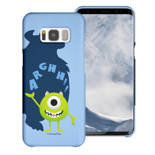 Galaxy S8 Plus Case [Slim Fit] Monsters University inc Thin Hard Matte Surface Excellent Grip Cover - Simple Mike