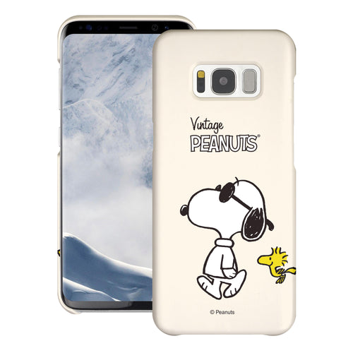Galaxy S8 Plus Case [Slim Fit] PEANUTS Thin Hard Matte Surface Excellent Grip Cover - Vivid Snoopy Woodstock