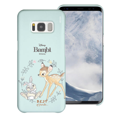 Galaxy S8 Case (5.8inch) [Slim Fit] Disney Bambi Thin Hard Matte Surface Excellent Grip Cover - Full Bambi Thumper