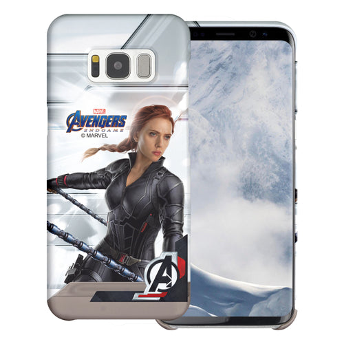 Galaxy S6 Case (5.1inch) Marvel Avengers [Slim Fit] Thin Hard Matte Surface Excellent Grip Cover - End Game Black Widow