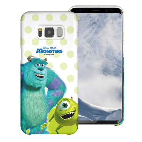 Galaxy S8 Plus Case [Slim Fit] Monsters University inc Thin Hard Matte Surface Excellent Grip Cover - Movie Mike Sulley