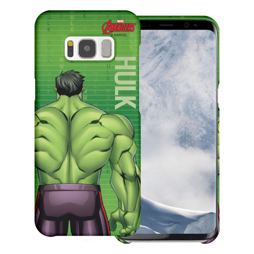 Galaxy S7 Edge Case Marvel Avengers [Slim Fit] Thin Hard Matte Surface Excellent Grip Cover - Back Hulk