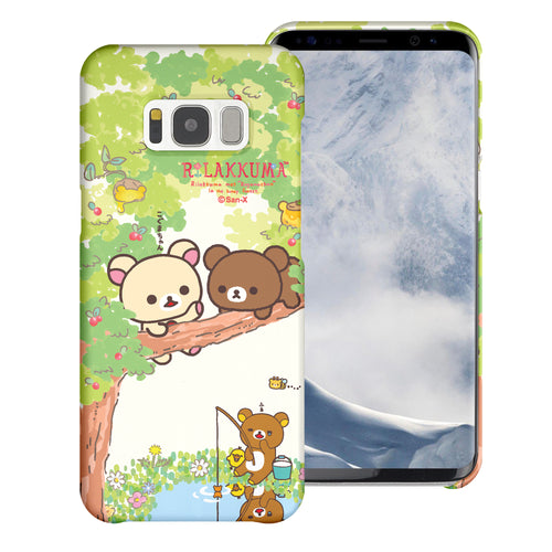 Galaxy Note4 Case [Slim Fit] Rilakkuma Thin Hard Matte Surface Excellent Grip Cover - Rilakkuma Forest