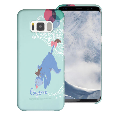 Galaxy S8 Case (5.8inch) [Slim Fit] Disney Pooh Thin Hard Matte Surface Excellent Grip Cover - Balloon Eeyore