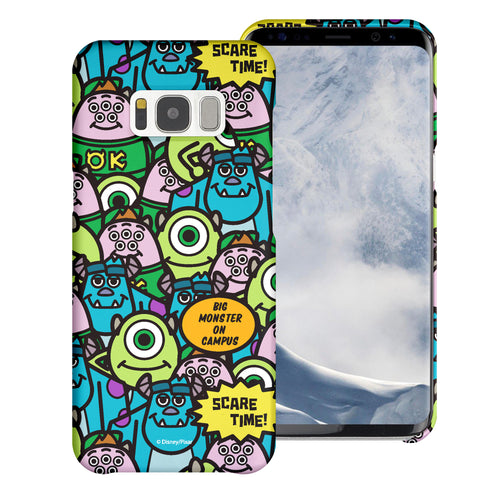 Galaxy S8 Plus Case [Slim Fit] Monsters University inc Thin Hard Matte Surface Excellent Grip Cover - Pattern Face