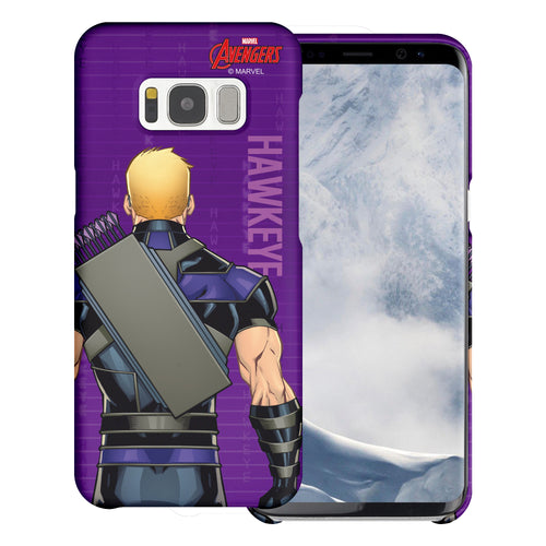 Galaxy S6 Edge Case Marvel Avengers [Slim Fit] Thin Hard Matte Surface Excellent Grip Cover - Back Hawkeye