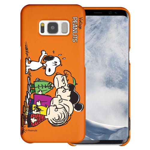 Galaxy S6 Edge Case [Slim Fit] PEANUTS Thin Hard Matte Surface Excellent Grip Cover - Cute Snoopy Friends