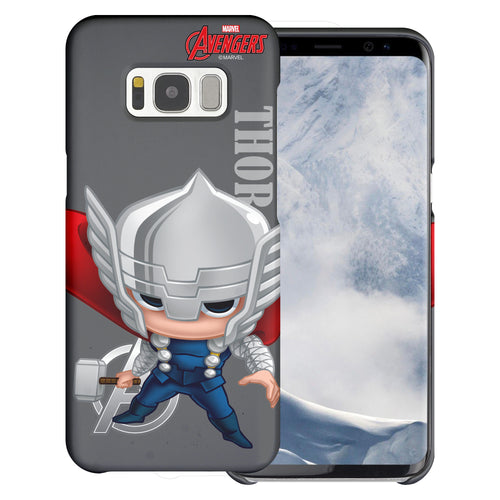 Galaxy S6 Case (5.1inch) Marvel Avengers [Slim Fit] Thin Hard Matte Surface Excellent Grip Cover - Mini Thor