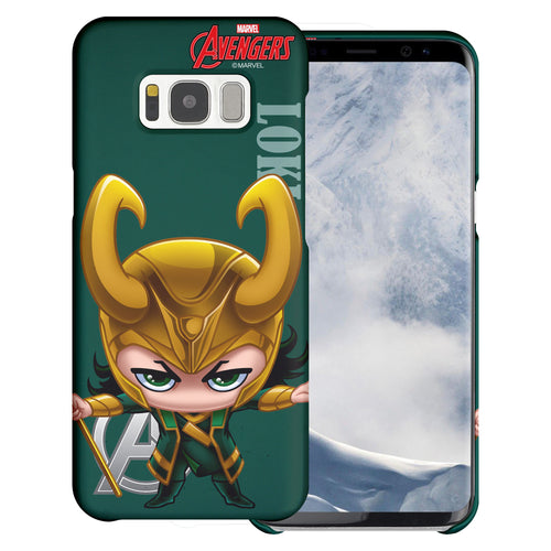 Galaxy S7 Edge Case Marvel Avengers [Slim Fit] Thin Hard Matte Surface Excellent Grip Cover - Mini Loki
